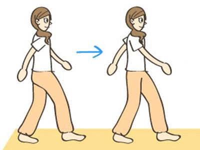 在走路的人矢量图